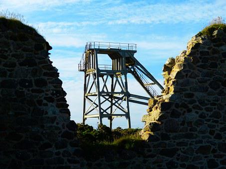 Headframe, Mine, Botallack Mine, St Just, Cornwall