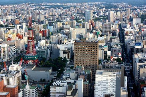 Sapporo, Cityscape, Hokkaido, Japan, Buildings, Urban