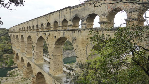 Pont Du Gard, Viaduct, Bridge, France