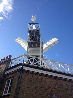 Windmill, Wimbledon, Wind, Machine, Wind Energy, Sails