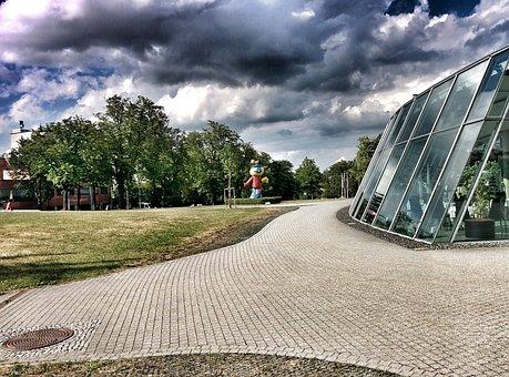Winter Garden, Park, Hdr, City Court, Theater, Clouds