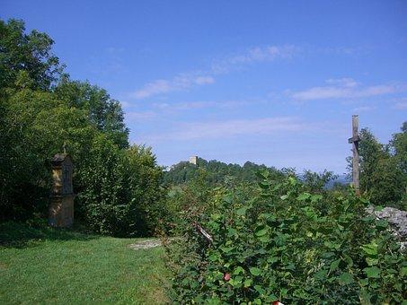 Giechburg, Keep, Square, Landmark, Bamberg Land