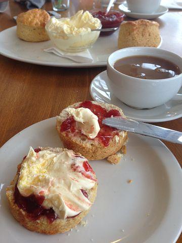 Breakfast, Cream Tea, Jam, Cream, Tea, Clotted, British