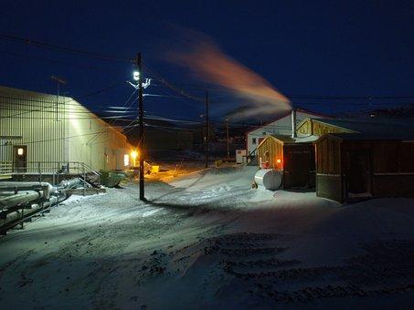 Gallagher's, Bar, Antarctica, Dusk, Winter, 2009