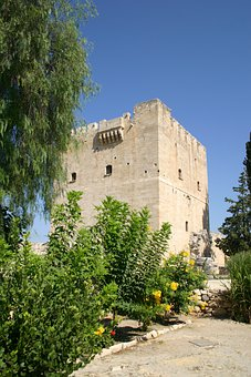 Cyprus, Kolossi Castle, Historic, Ruins, Building