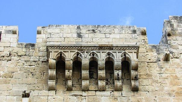 Cyprus, Kolossi, Castle, Medieval, Balcony, History