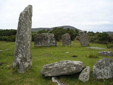 Ireland, Stone Circle, Landscape, Megalithic Structure