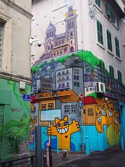 Marseille, Graffiti, The 3 Kings Street, Of Street