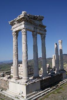 Pergamon, Turkey, Temple, Columnar, Historically