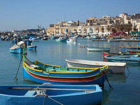 Fishing Village, Port, Boats, Fishing Boats, Colorful