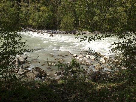 Saalachstrasse, River, Rapids, Reichenhall