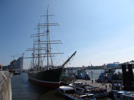 Rickmer, Rickmers, Hamburg, Port, Sailing Vessel