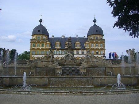 Schloss Seehof, Memmelsdorf, Park, Baroque, Water Games
