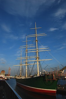 Rickmers, Sailing Vessel, Elbe, Hamburg, Ship