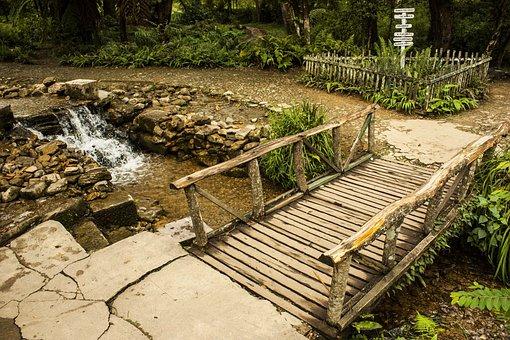 Bridge, Old Bridge, Water, Wood, Trees, Bank, Waters