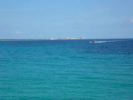 Horizon, Sea, Island, Land In Sight, Water, Ocean, Sky