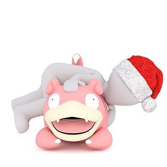 White Male, 3d Model, 3d, Model, Christmas, Santa Hat