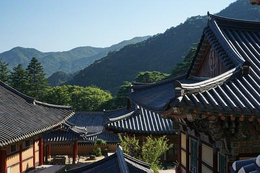 Hapcheon, Year Greetings, Mountain, Roof, Asian Style