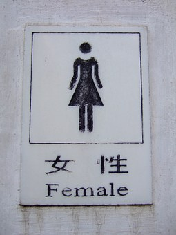 Female, Toilet, Sign, Woman, Bathroom, Chinese