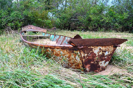 Boat, Rusty, Wreck, Old, Sea, Marine, Nautical, Vessel