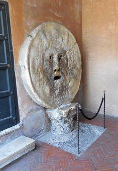 Rome, Boccha Della Verita, Mouth Of Truth
