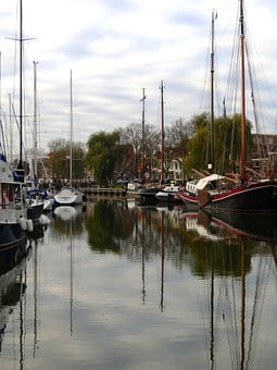 Enkhuizen, Holland, Ships, Boats, Water, Bay, Canal