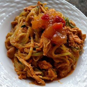 Vegetable, Noodles, Zoodles, Food, Meal, Dish, Cuisine