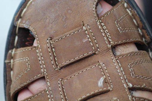 Sandal, Men Shoes, Suede, Foot