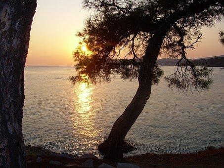 Greece, Thassos, Sunset