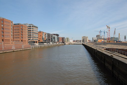 Hamburg, Port, Harbour City, Elbe, Channel