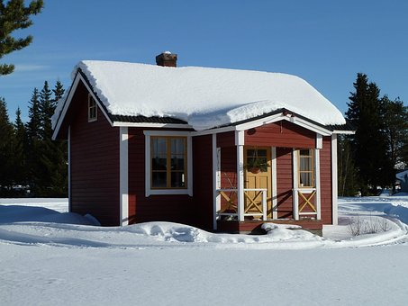House, Cottage, Snow, Scandinavia, Architecture, Home