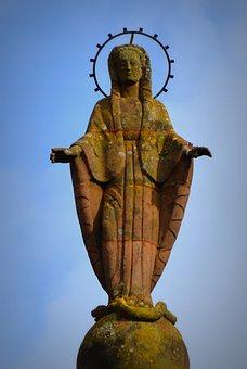 Statue, Maria, Image, Faith, Christianity, Waxweiler