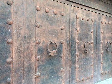Door, Colonial, Entrance, Iron, Old, Architecture