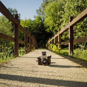 Camera, Bridge, Lake, Rural, Pentacon, Lifestyle