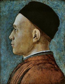 Andrea Mantegna, Portrait D'homme, Man, Painting