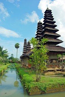 Pagoda, Indonesia, Bali, Temple, Mengwi, Taman Ayun