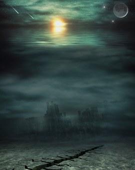 Apocalypse, Water, Sea, Setting, Mystical, Atmospheric