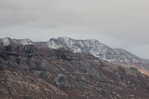 Mount Timpanogos, Mountain, Timpanogos, Utah, Snow