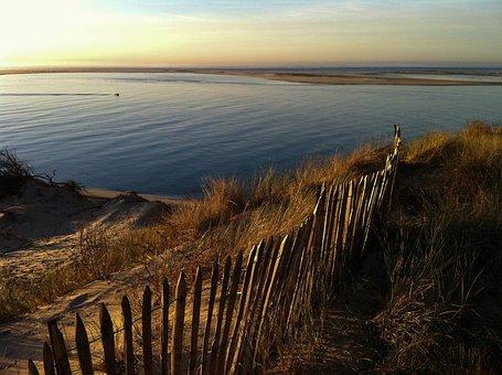 Pyla Dune, Wooden Palisade, Dune Ridge, Summer