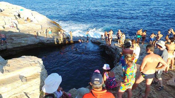 Thassos, Natural Swimming Pool, Summer, Holidays
