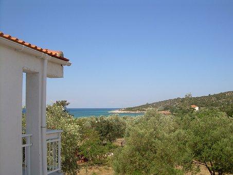 Greece, Thassos, Sea, Coast, Sea View