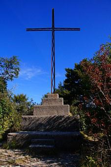 Summit Cross, Cross, Garda, Tignale, Lombardy, Mood