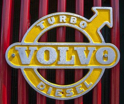 Volvo, Diesel, Turbo, Emblems, Motor, Car, Truck