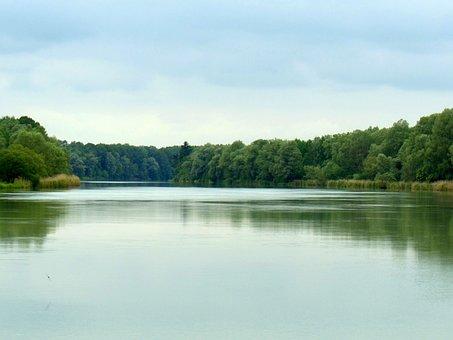 Inn, In Nauen, Perach, Neuötting, Water, Rest, Sky