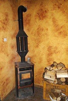 Old Stove, Iron Stove, Wood Heating