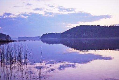 Lake, Landscape, Nature, Water, Sunset, Abendstimmung