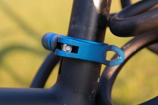 Seat Clamp, Terminal, Blue, Anodized, Seatpost