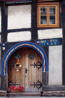Building, Home, Door, Truss, Fachwerkhaus, Window