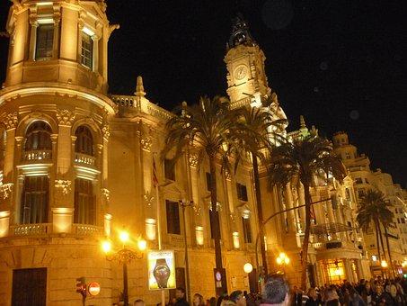 City Hall, Light, Night, Architecture, Lighting, City