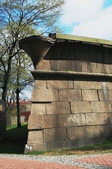 Wall, Tall, Strong, Grey, Corner, Parapet, Defense